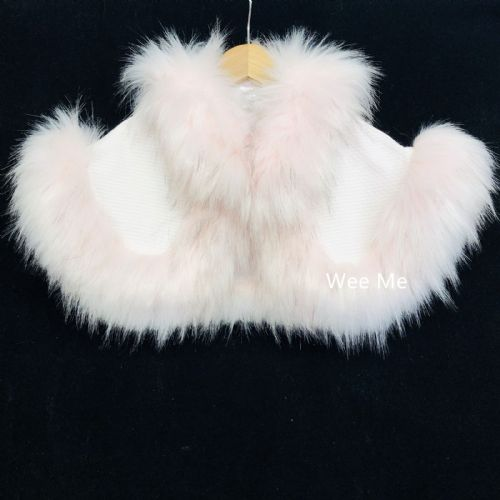 NEW Wee Me Fluffy Cape with Fur Trim Warm and Cozy